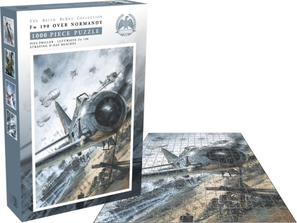 Bellica - Fw 190 Over Normandy (1000 Piece Jigsaw Puzzle)