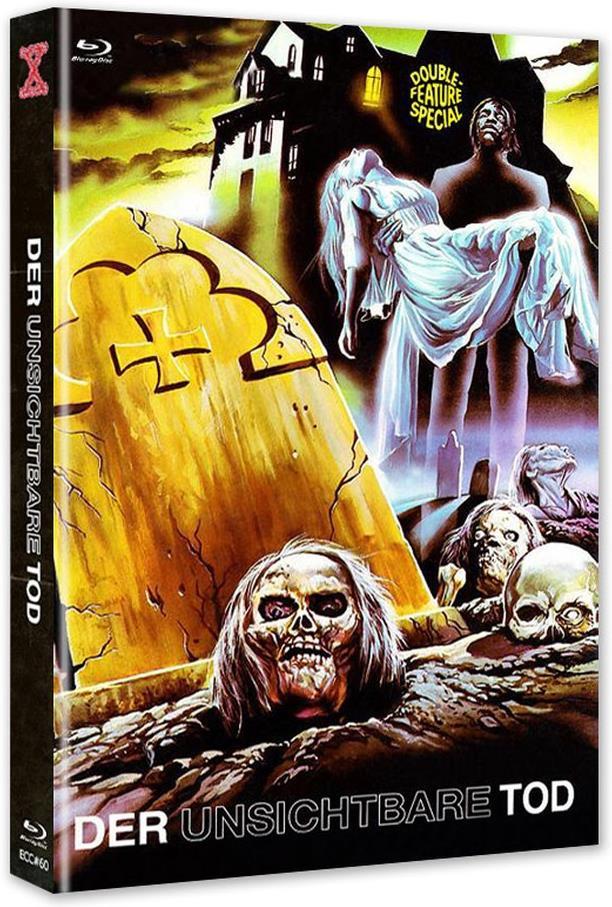 Der unsichtbare Tod (1970) (Cover B, Eurocult Collection, Edizione Limitata, Mediabook, Uncut, Blu-ray + DVD)