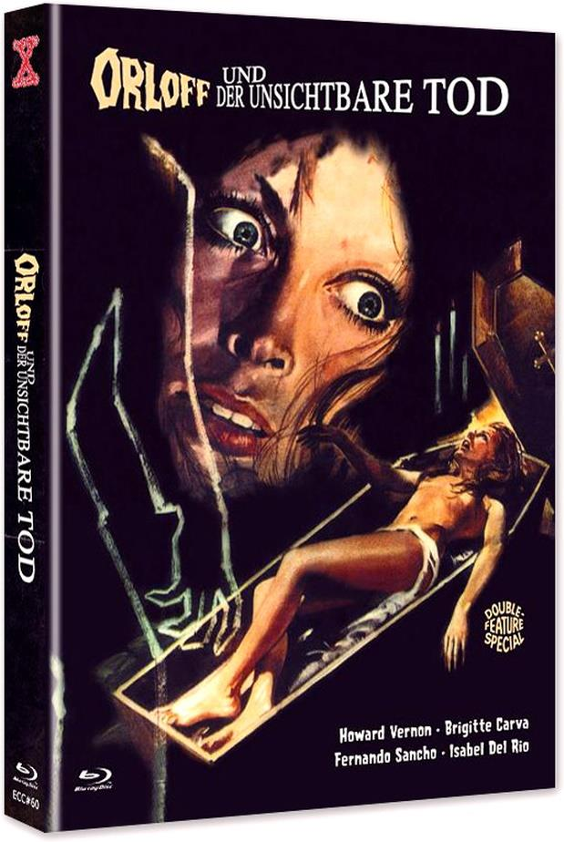 Orloff und der unsichtbare Tod (1970) (Cover C, Eurocult Collection, Edizione Limitata, Mediabook, Uncut, Blu-ray + DVD)