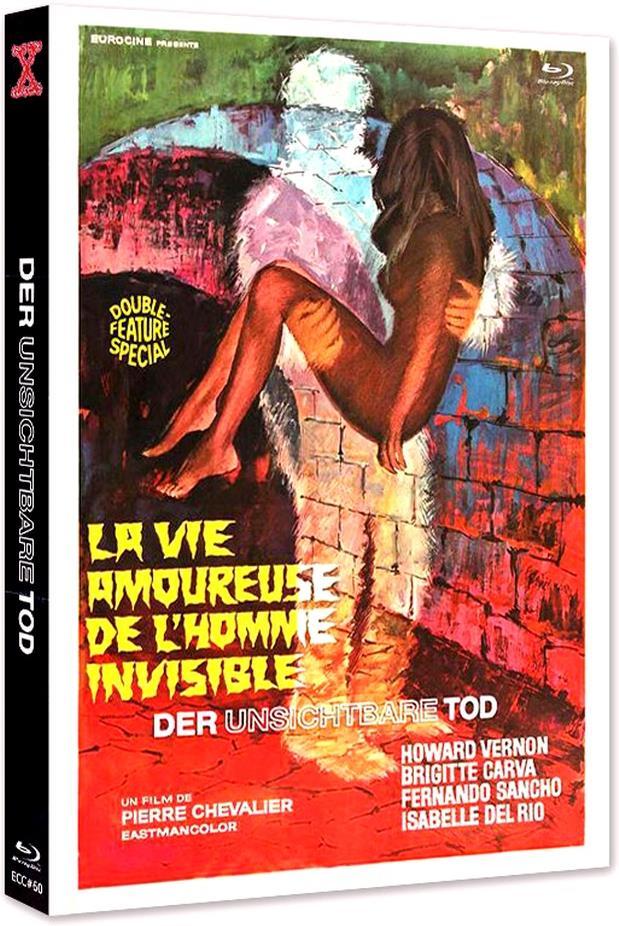 Der unsichtbare Tod - La vie amoureuse de l'homme invisible (1970) (Eurocult Collection, Cover D, Edizione Limitata, Mediabook, Uncut, Blu-ray + DVD)