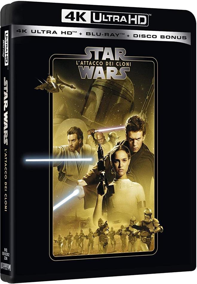 Star Wars - Episodio 2 - L'attacco dei Cloni (2002) (Line Look, Riedizione, 4K Ultra HD + 2 Blu-ray)