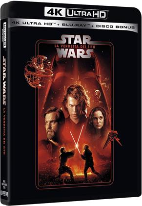 Star Wars - Episodio 3 - La vendetta dei Sith (2005) (Line Look, Neuauflage, 4K Ultra HD + 2 Blu-rays)
