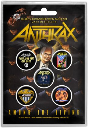 Anthrax Button Badge Pack - Among the Living