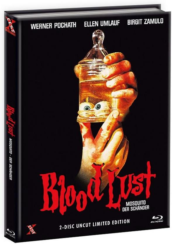 Blood Lust - Mosquito - Der Schänder (1977) (Cover C, (Cover A Version), Limited Edition, Mediabook, Uncut, Blu-ray + DVD)