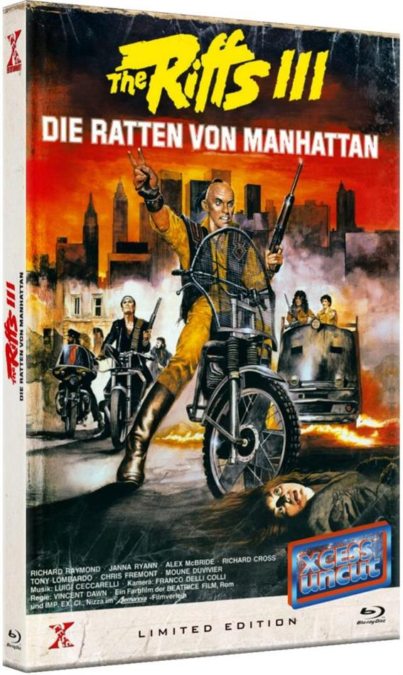 The Riffs 3 - Die Ratten von Manhattan (1984) (Grosse Hartbox, Xcess Uncut, Limited Edition, Blu-ray + DVD)