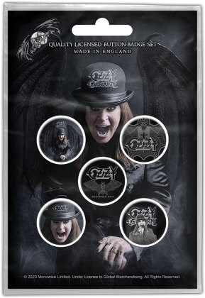 Ozzy Osbourne Button Badge Pack - Ordinary Man