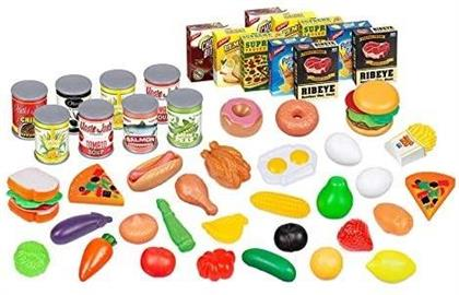 Playsets - 58 Piece Kids Assorted Food Playset
