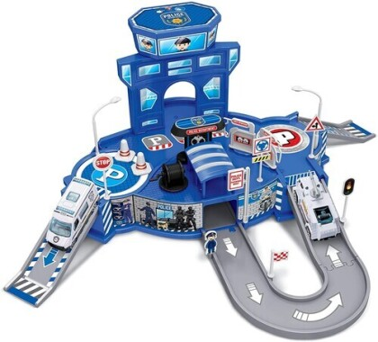 Playsets - Diecast Cruisers 1:64 Police Depot Playset