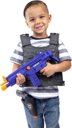 Playsets - Kids Swat 9 Piece Playset With Submachine Gun