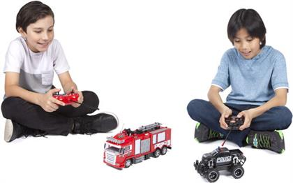 Rc Vehicles - 1:24 First Responder Water Squirting Fire Truck &