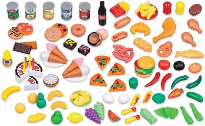 Playsets - 130 Piece Kids Assorted Food Playset
