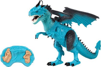 Rc Wild Life - Monster World Blue Dragon Electric Walking Smoking