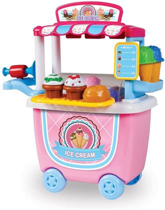 Playsets - 14 Piece Ice Cream Cart Playset