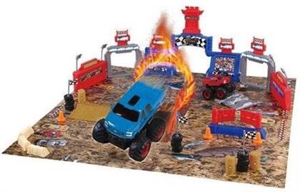 Friction Vehicles - 54 Piece Monster Truck Mayhem Friction Playset