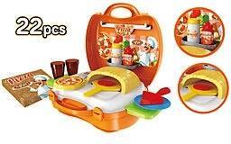 Playsets - World Tech Toys Pizzeria 22 Piece Suitcase Playset