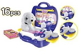 Playsets - World Tech Toys Pet Grooming 16 Piece Suitcase