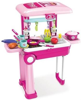 Playsets - Lil Chef Pink Mobile Suitcase Playset