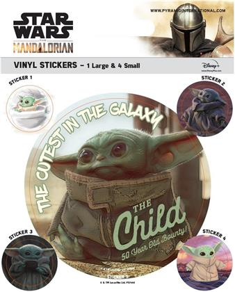 Star Wars: The Mandalorian - The Child - Vinyl Sticker Pack