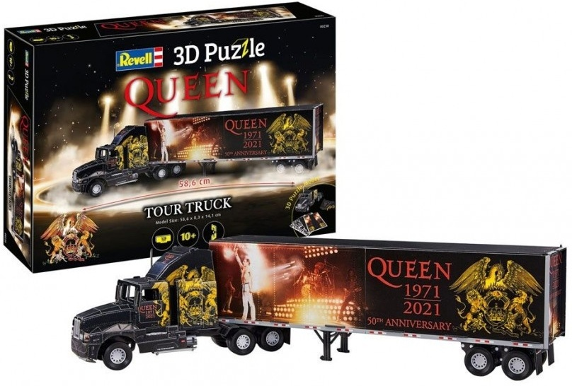 Revell QUEEN Tour Truck 50th Anniversary - 128 Teile 3D Puzzle