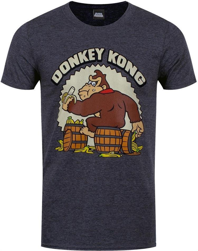 Nintendo: Donkey Kong - Bananas - Men's Heather Grey T-Shirt - Grösse M