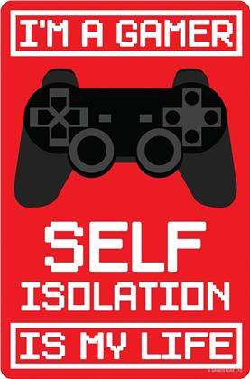 I'm A Gamer - Self Isolation Is My Life - Greet Tin Card