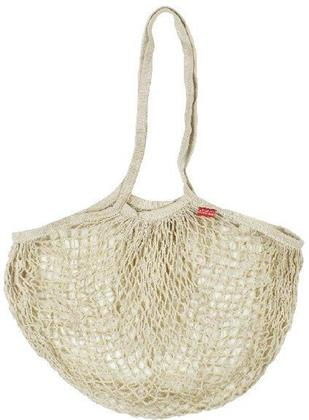 Cotton Mesh Bag - Beige