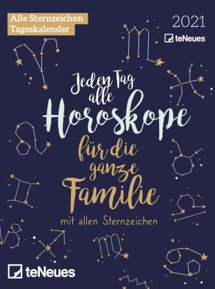 Horoskope für die ganze Familie 2021 Tagesabreißkal. - Horoskopkalender - Tagesabreißkalender - 11,8x15,9