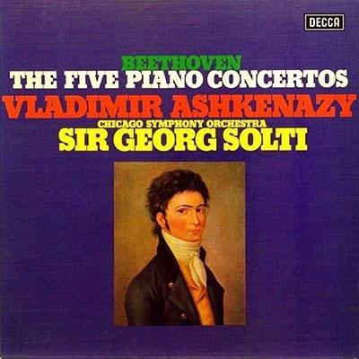 Ludwig van Beethoven (1770-1827), Sir Georg Solti & Vladimir Ashkenazy - 5 Piano Concertos (Japan Edition, 3 SACDs)