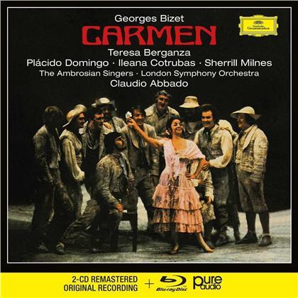 Georges Bizet (1838-1875), Claudio Abbado, Teresa Berganza, Ileana Cotrubas, Placido Domingo, … - Carmen (2 CDs + Blu-ray)