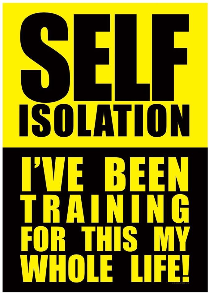 Self-Isolation: I've Been Training For This My Whole Life - Mini Poster