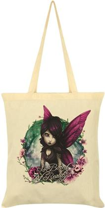 Hexxie Rose - So Bored of Reality - Cream Tote Bag