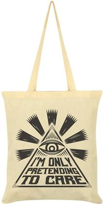 I'm Only Pretending to Care - Cream Tote Bag