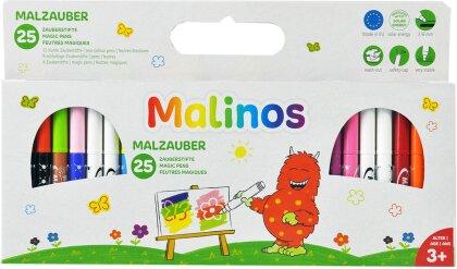 Malzauber, 25 Zauberstifte - 21 bunte / 4 weisse Stife