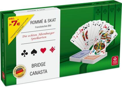 Spielkartenkassette - französisches Bild, in Stülpschachtel