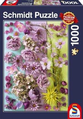 Violette Blüten - 1000 Teile Puzzle