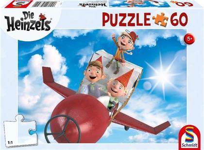 Die Heinzels: Flug mit der Pupsrakete - 60 Teile Puzzle