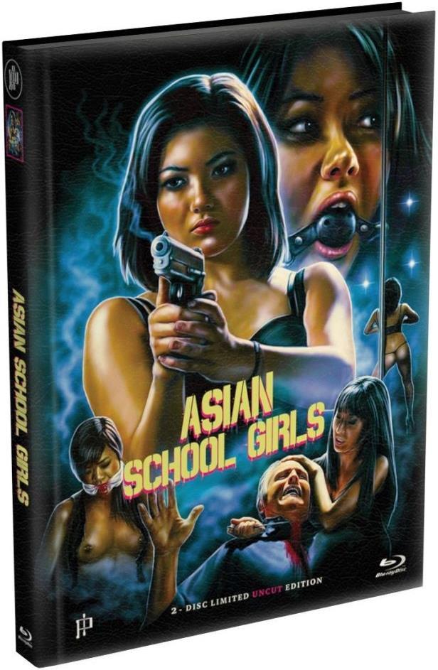 Asian School Girls (2014) (Cover A, Wattiert, Edizione Limitata, Mediabook, Uncut, Blu-ray + DVD)