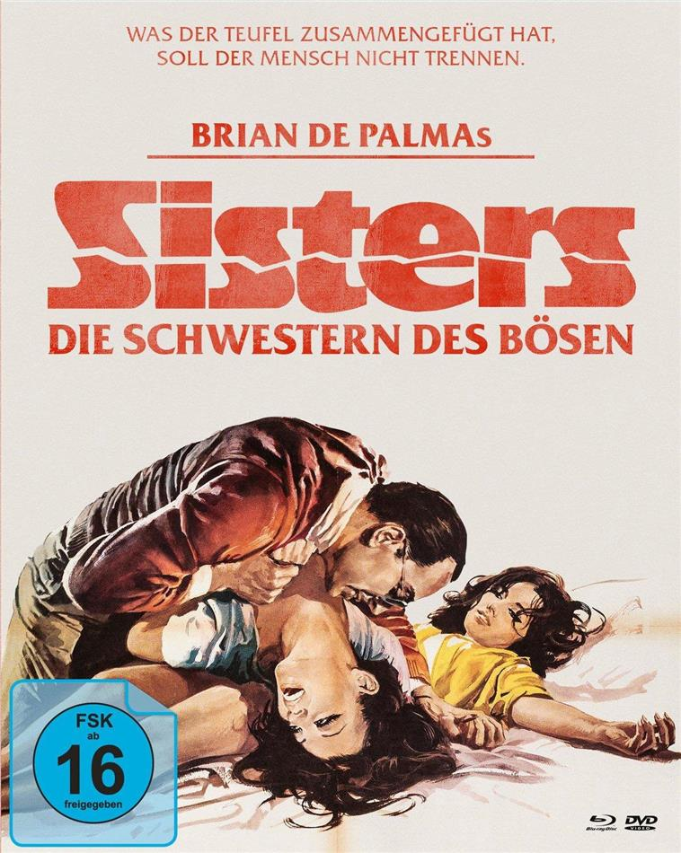 Sisters - Die Schwestern des Bösen (1972) (Limited Edition, Mediabook, Blu-ray + 2 DVDs)