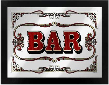Bar - Framed Mirrored Tin Sign