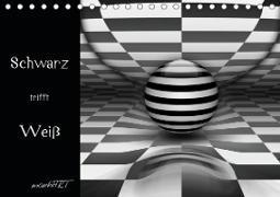 Schwarz trifft Weiß (Tischkalender 2021 DIN A5 quer)