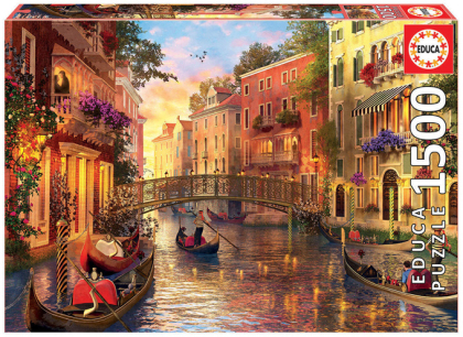 Sonnenuntergang Venedig (Puzzle)