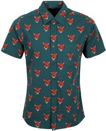 Run & Fly - Fox - Retro Preppy Short Sleeve Shirt