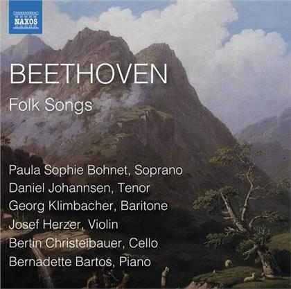 Ludwig van Beethoven (1770-1827), Paula Sophie Bonet, Daniel Johannsen, Georg Klimbacher, Josef Herzer, … - Folk Songs