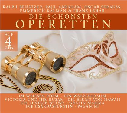 Ralph Benatzky, Paul Abraham, Oscar Straus (1870-1954) & Franz Lehar (1870-1948) - Die Schönsten Operetten (4 CDs)