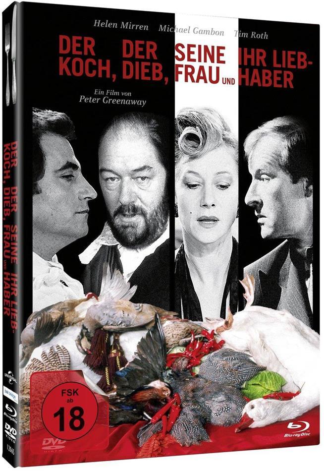 Der Koch, der Dieb, seine Frau und ihr Liebhaber (1989) (Limited Edition, Mediabook, Blu-ray + DVD)