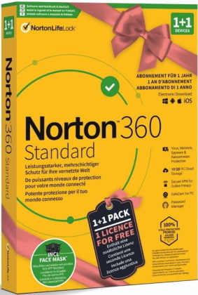 Norton Security 360 Standard 10GB 1+1 Device Bundle [PC/Mac/Android/iOS]