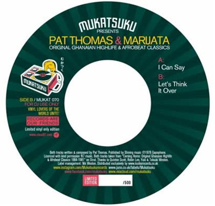 "Pat Thomas & Marijata - I Can Say / Let's Think It Over (7"" Single)"