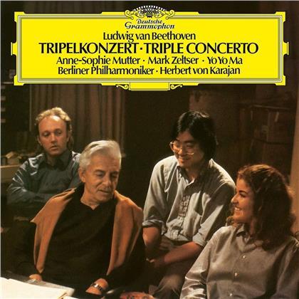 Ludwig van Beethoven (1770-1827), Herbert von Karajan, Anne-Sophie Mutter, Yo-Yo Ma, Mark Zeltser, … - Triple Concerto (LP)