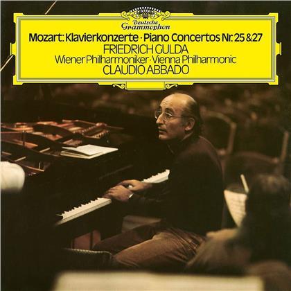 Wolfgang Amadeus Mozart (1756-1791), Claudio Abbado, Friedrich Gulda (1930-2000) & Wiener Philharmoniker - Klavierkonzerte 25 & (2 LPs)