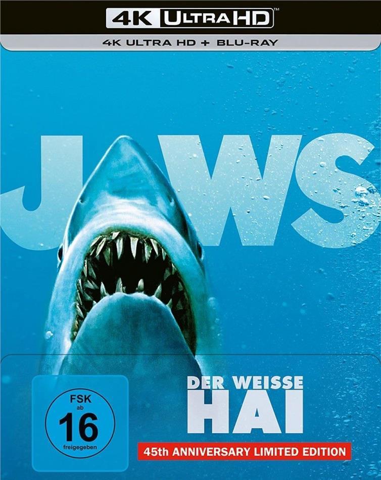 Der weisse Hai (1975) (45th Anniversary Edition, Limited Edition, Steelbook, 4K Ultra HD + Blu-ray)
